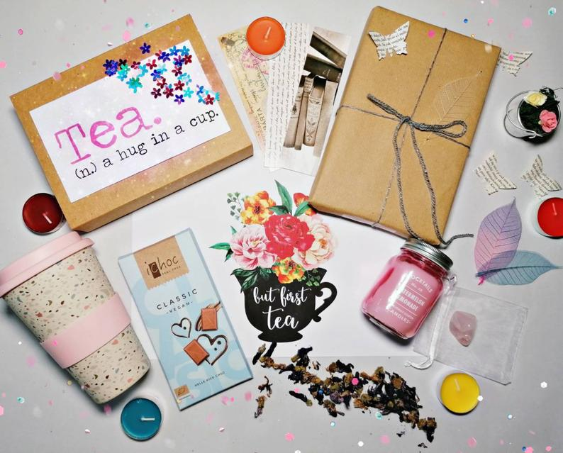 Book and Tea Lover Gift Box For Women From TheSunshineLab